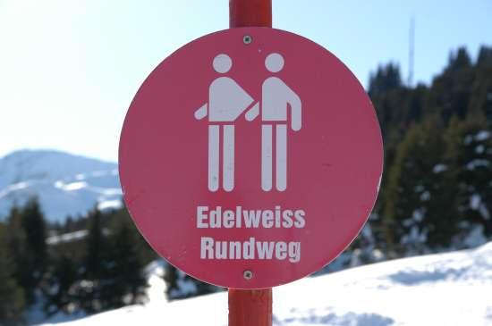 Die Signalisationstafeln der Winterwanderwege
